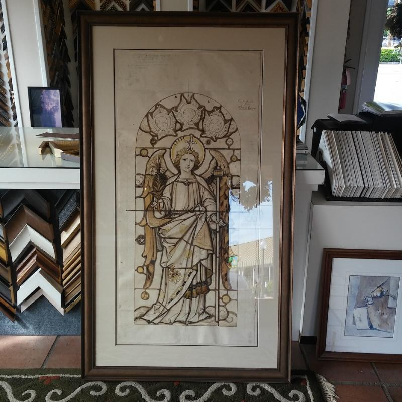 FIVE FOOT TALL PAPER RENDERING FOR STAIN GLASS WINDOW